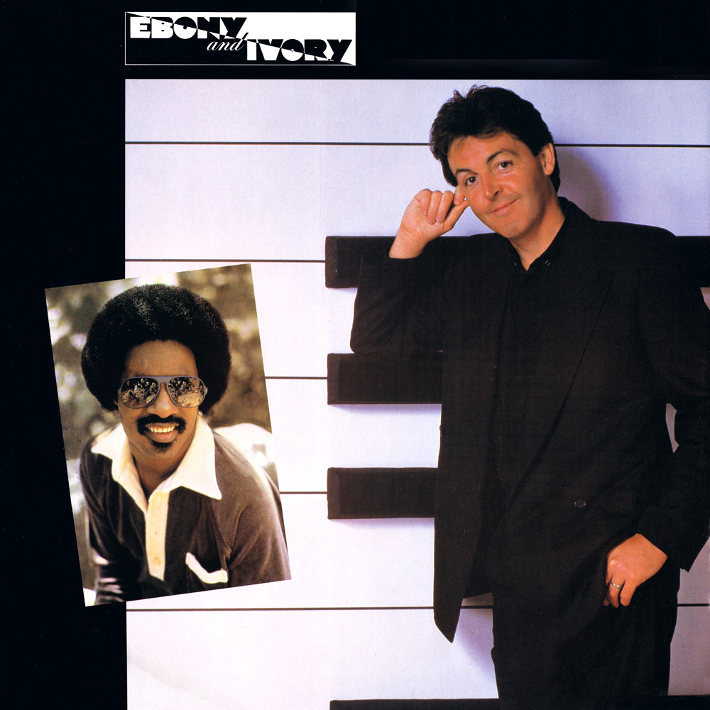 Paul McCartney Stevie Wonder Ebony And Ivory UK 12