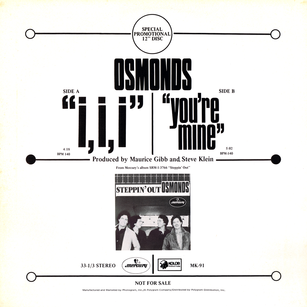 Osmonds I I I Youre Mine