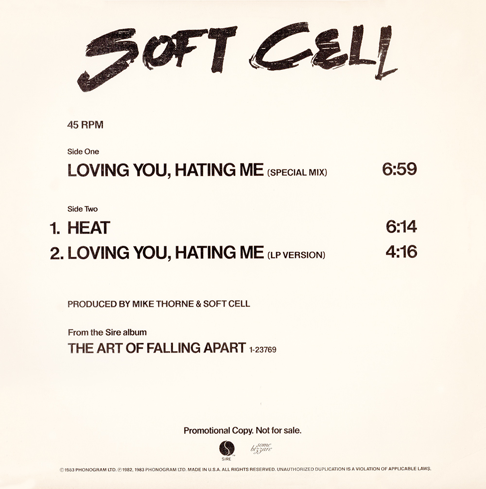 Burning the ground djpaults 80s and 90s remixes blog archive loving you hating me was the proposed third uk single from the album the art of falling apart by english synth pop duo soft cell solutioingenieria Choice Image