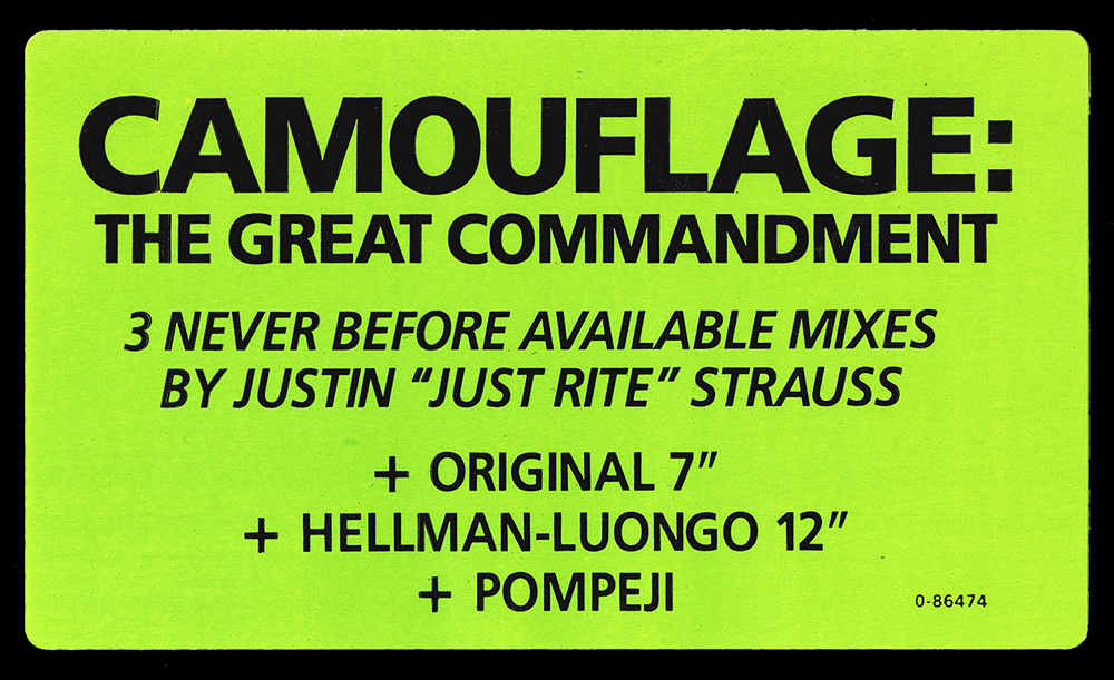 """253339d7d75ce3 """"The Great Commandment"""" is the debut single from German synthpop band  Camouflage"""